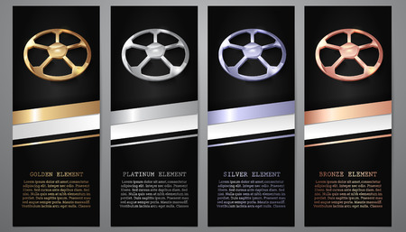 Gold, Platinum, Silver, Bronze football in black banners.