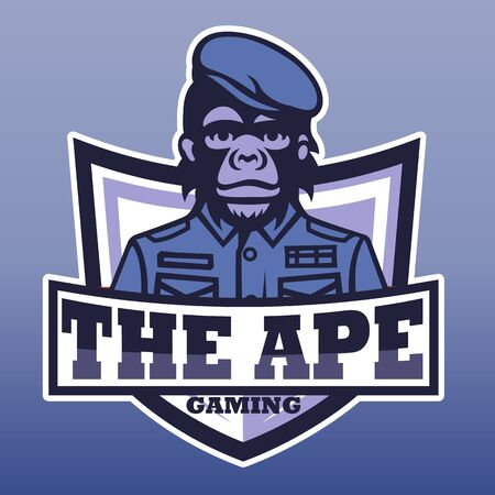 The ape gaming, E sport  vector logo