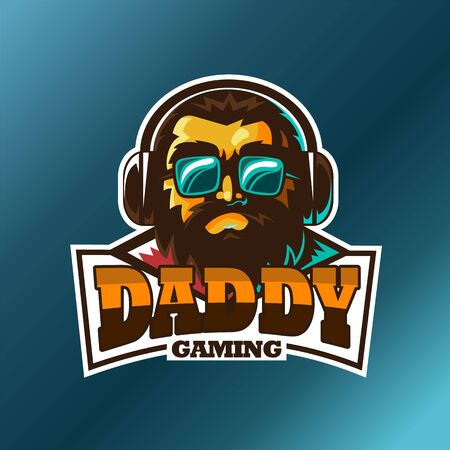 Daddy gaming, E sport vector logo