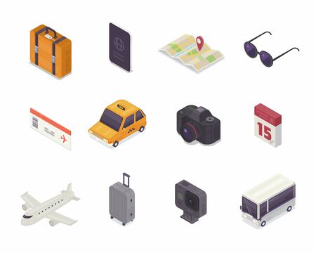 Travel Isometric icon, Vector icon illustration.