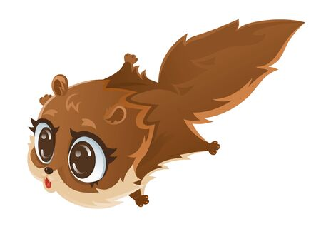 Flying squirrel , Cartoon vector illustration.