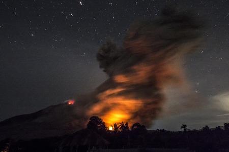 eruption: Mount Sinabung eruption