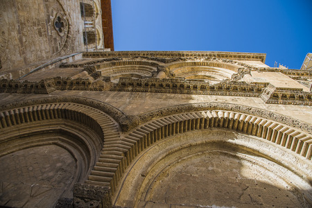 immovable: Byzantine facade and Immovable Ladder of Holy Sepulchre Church, Jerusalem. Jerusalem Holy Sepulcher