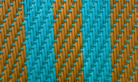 cotton velvet: Striped weave turquoise with brown texture, style, rectangle Stock Photo