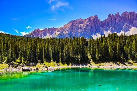 Blue Lake of Italy in the mountains, Valtournenche - Aosta Valley