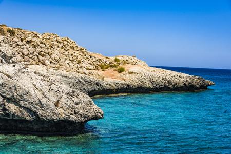 Petra tou Romiou, Aphrodites birthplace in Paphos, Cyprus Island Beach