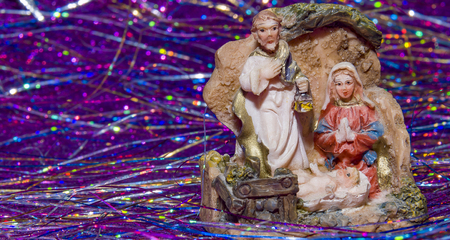estrella de belen: nativity scene Jesus Christ, Mary and Josef Christmas baby Jesus