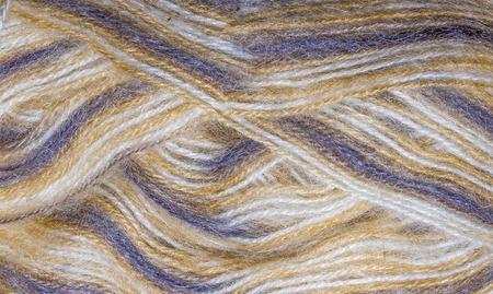 shopfront: background thread for knitting. Knitting pattern of colorful yarn wool on shopfront. acrylic thread for knitting