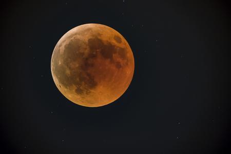 JERUSALEM, ISR - July 27 2018: Lunar eclipse Red moon. bloody moon