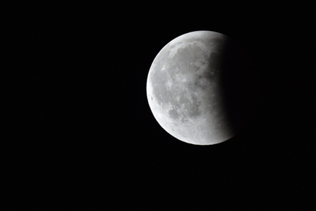 Moon Eclipse Closeup Showing the Details of Lunar Surface moon eclipse