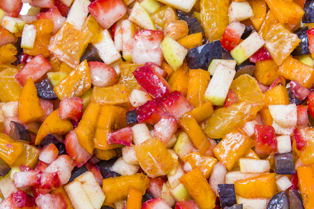 Background of healthy fresh fruits fruit salad mix