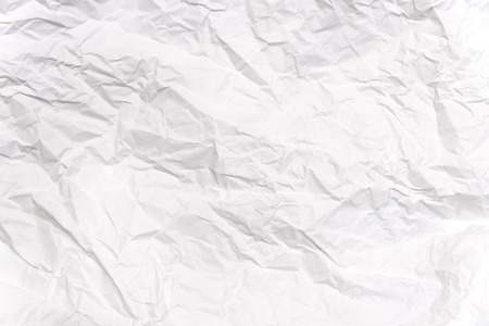 background White crumpled paper Texture Banco de Imagens