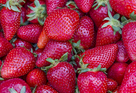 Strawberries background. Strawberry Food background Banco de Imagens