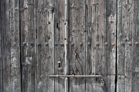 Old wooden gates with iron handles,Wooden gates old wooden gate