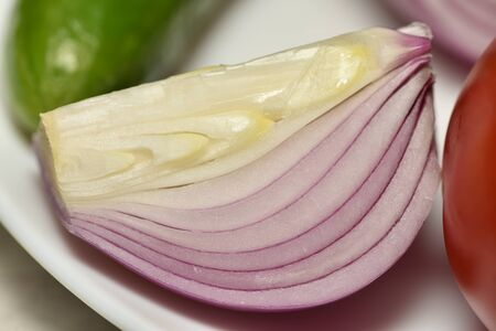 Sliced red onion cutted with onions