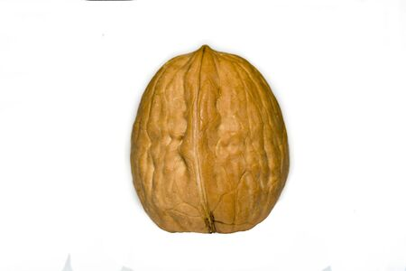 walnut on white background Walnut on a white. Banco de Imagens