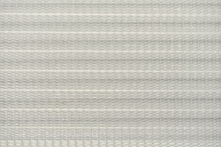 White striped blinds background. surface with natural pattern for design and decoration. View white closed blinds. Banco de Imagens