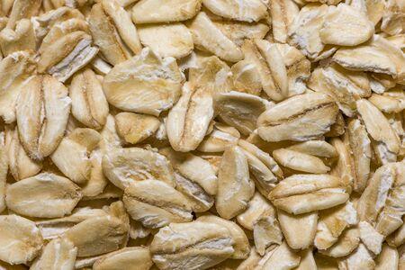 Closeup oatmeal background. Oatmeal close-up closeup background. Banco de Imagens