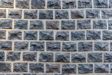 black brick texture background. stone tile brick black