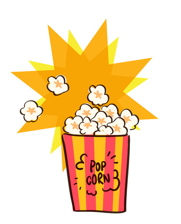 hot tub: flat popcorn vector