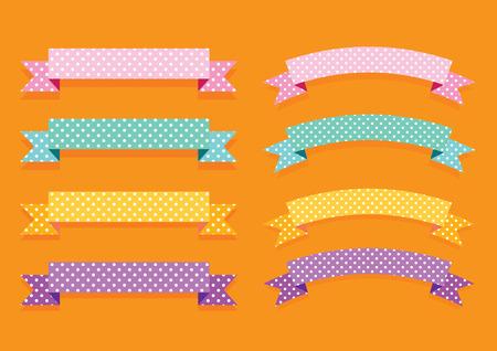 ribbon banner: colorful ribbon banner label illustration vector collection set Illustration