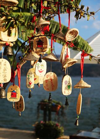 wishing: Wishing Tree at Erhai Lake, Dali Editorial