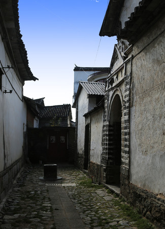 back alley: Back alley view of a town in Lijiang