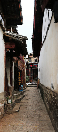 back alley: View of a back alley in an ancient town