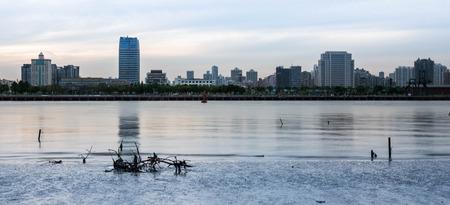 huangpu: Landscape scenery view of Huangpu river Stock Photo
