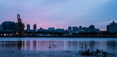 huangpu: Landscape view of scenery at Huangpu River at dawn