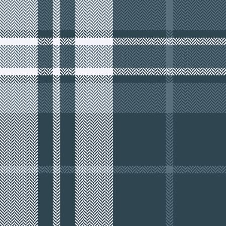Seamless check plaid pattern. Autumn winter herringbone tartan plaid background in grey blue and white for flannel shirt, scarf, blanket, throw, duvet cover, or other modern textile prints.