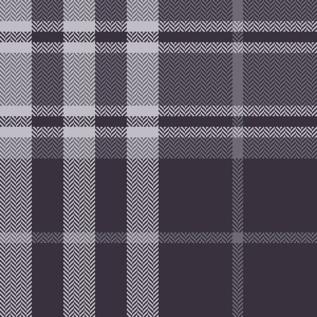 Dark grey plaid pattern vector graphic. Tartan check plaid for flannel shirt, blanket, scarf, throw, duvet cover, upholstery, or other modern autumn winter fabric design. Herringbone texture.