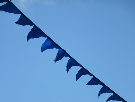 blue Wimpel in the sky photo