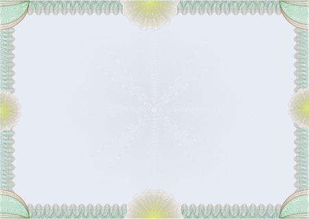 vector secure hi detailed guilloche blank certificate