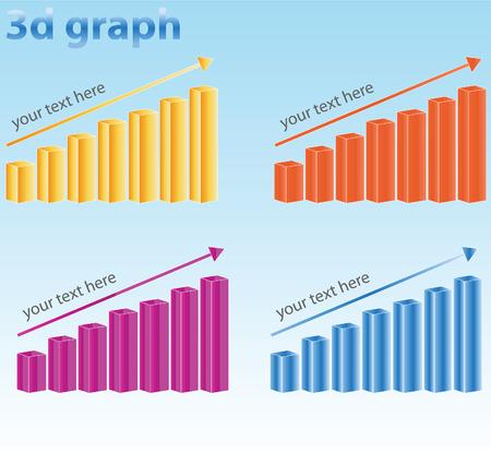 concept 3d graph Vector
