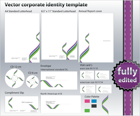 corporate ID design elements  Vector