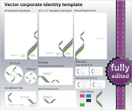 corporate ID design elements  Vector