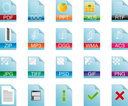 Icon for text and and graphic type document