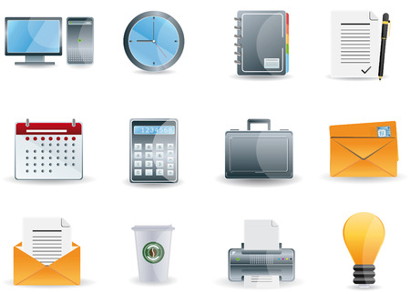 Office & Business icons set Vector