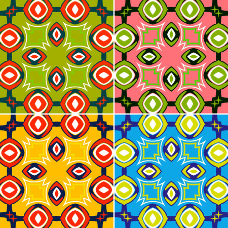seamless pattern set of 4 color options Stock Vector - 4434195