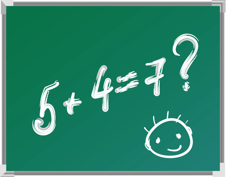 chalkboard with hand drawing funny smile Vector