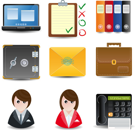 office use: Icons for Business & Office use Illustration