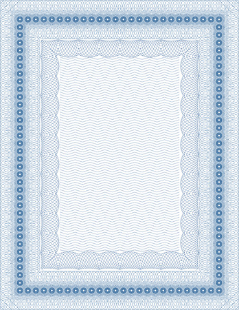 Vector secure blank guilloche certificate Illustration