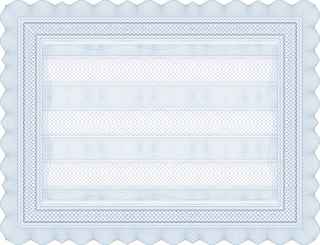 vector secure blank certificate template Illustration