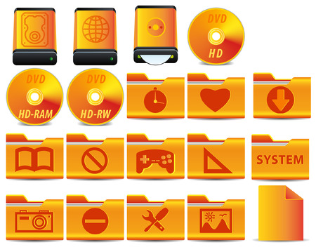 gold icon for operation system set 4 of 4 Stock Vector - 5302171