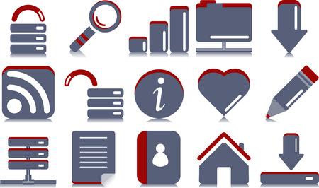 Website  Internet icons   Simple series