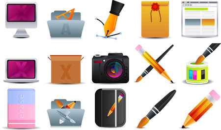 Graphic Design  set of 15 icons Stock Vector - 5433221