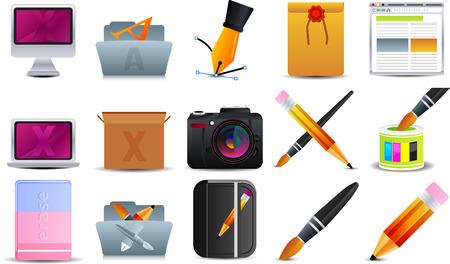 Graphic Design  set of 15 icons