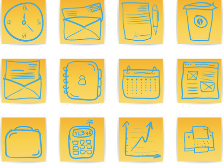 Office & Business hand draw icon set