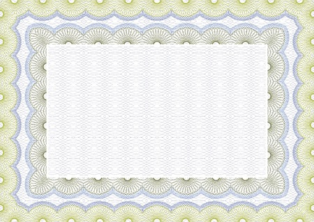 Secure blank guilloche certificate Vector